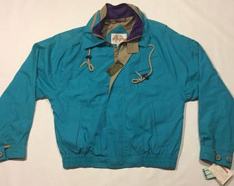 90s teal and purple jacket