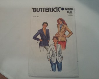 6998 Butterick Misses Blazer Sewing Pattern P69