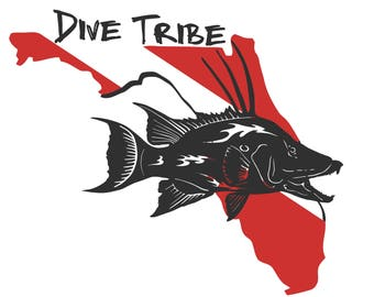 Gift for Dad, Dive Tribe, t shirt, fishing shirt, long sleeve t shirt, tank top, diving , Hog fish, Florida
