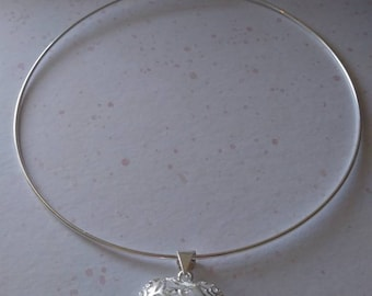 Silver Bubble Choker Necklace