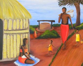 High Quality Giclee African Art print