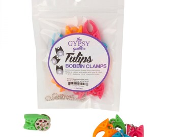 The Gypsy Quilter Tulip Bobbin Clamps - Bag of 12 - TGQ016