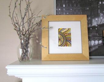 "Abstract art, Frameable art, Original Artwork,  zentangle drawing, mandala-style, 7x9"" art, wall art, neutral colors, black and white"