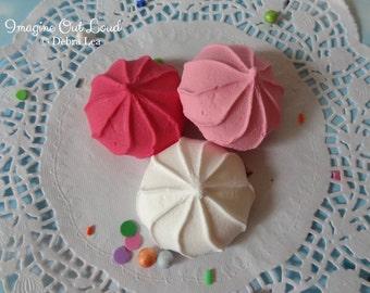 FAUX Cookie Meringue Pink Set Fake Food Prop Photo Pastel Kitchen Decor Display