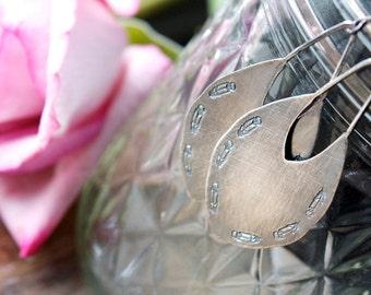 Sterling Silver Chandelier Earrings, Drop Earrings, Feather Earrings... Kismet...