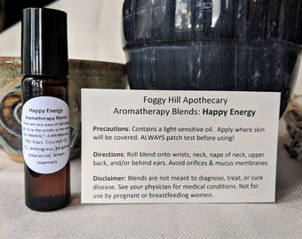 Happy Energy #2 Aromatherapy Blends in a Roller Bottle