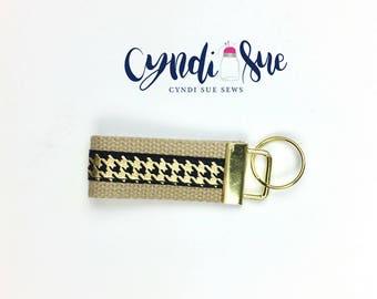 Black Gold Mini Key Fob, Key Chain, Classic