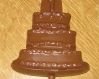 1 Birthday Cake Lolly Chocolate Mold