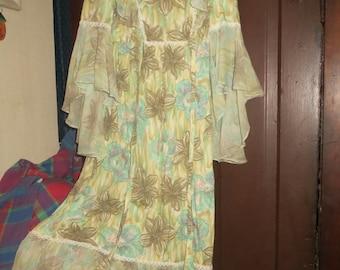 1970s    Hippie boho angel wings dress sz 5-6