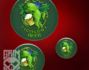 Pin I Lovecraft Beer