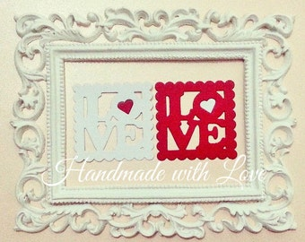 Love Postage Stamp, pack of 6 pieces. Perfect for any of your project for your loved ones!