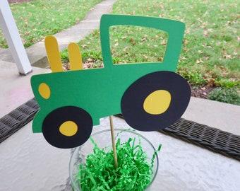 Tractor Centerpiece, John Deere Tractor Colored Centerpiece, Farm Animal Themed Centerpiece