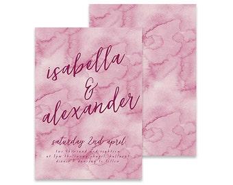 Purple Wedding Invitation | Ruffled | Printable DIY Invite, Affordable Wedding Invitation | Purple watercolor invitation