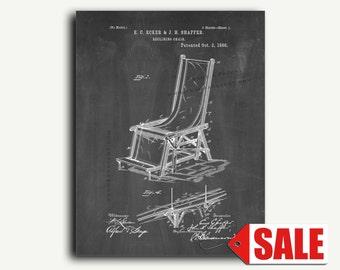 Patent Art - Reclining Chair Patent Wall Art Print