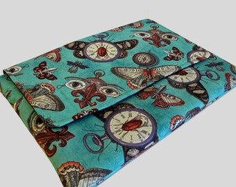 MacBook Air Sleeve, MacBook Air Case, MacBook Air 13 Inch Sleeve, MacBook Air 13 Case, MacBook Air Cover Steampunk Moths
