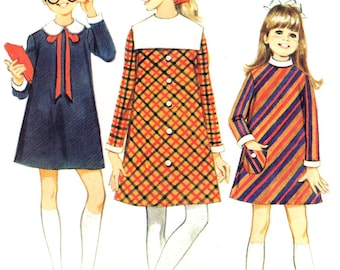 1960s McCall's 8852 sewing pattern // Girls' Dress in Three Versions