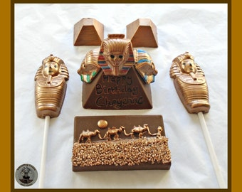 Ancient Egypt Chocolate Gift/Egyptian Pyramids/Sphinx/Pharoah/Camels/Desert Sand/Mummies/Tombs/Ancient Egypt/Gold/Artifacts/Archaeology/Mens