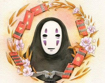 Spirited Away No Face 11x11 inch Print