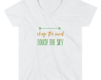 Chase the Wind - Women's V-Neck Shirt