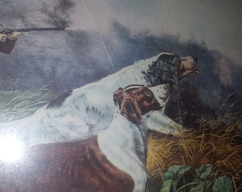 "A Chance for Both Barrels 16"" x 12"" American Field Sports - Currier & Ives"