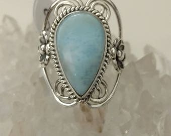 Abstract Larimar Ring Size 8