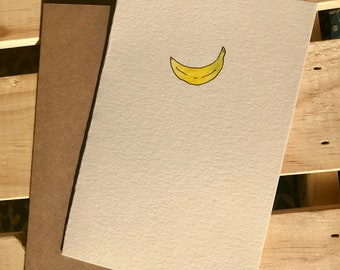 Hand Painted Banana Note Card