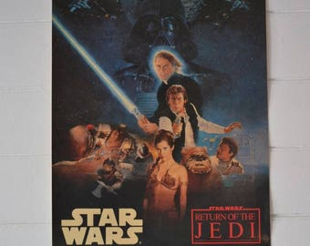 Vintage Movie Poster Star Wars Return of the Jedi 1983