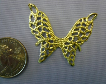 Vintage Brass Butterfly Wings NOS  (3)