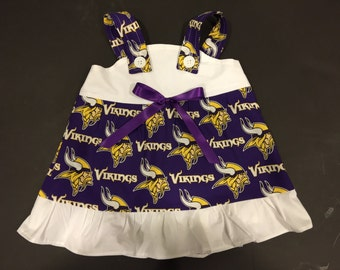 NFL Minnesota Vikings Baby Infant Toddler Girls Dress  You Pick Size
