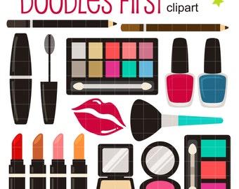make up clipart etsy rh etsy com