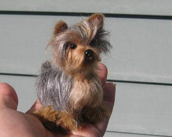 Needle Felted Dog / Custom  Miniature Sculpture of your pet