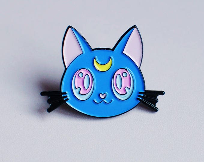 Luna Kitty Soft Enamel Pin (New Colours!)