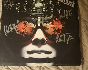 Autographed  Judas priest Hell bent for leather album
