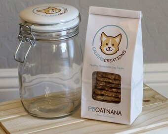 PB OATNANA, Homemade Dog Treats, Dog Treats, Healthy Dog Treats, Preservative Free