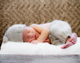 Infant Knitted Pants - Baby Knitted Pants - Infant Photography Prop - Handmade Wool Pants - Knitted Baby Photography Pants