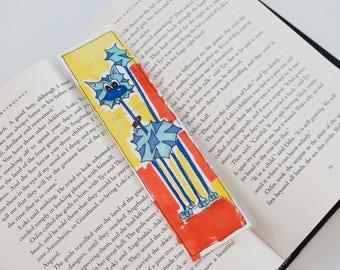 Bookmark - Blue Skinny-cat