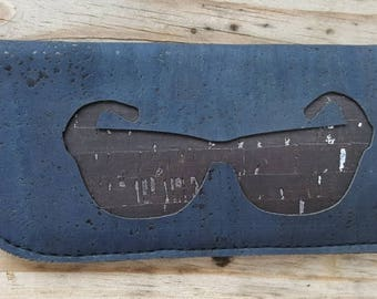 Glasses Case, Cork Gasses Case, Eye glasses Case, Cork Sunglasses Case, Blue Glasses Case, Sunglasses Case, Sunny Glasses Case