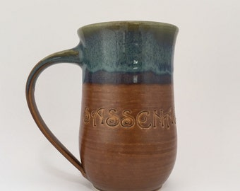 XLarge Sassenach Brown Green Blue Coffee Mug