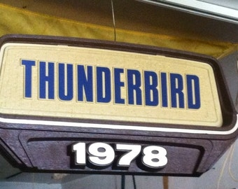 Vintage 1978 FORD THUNDERBIRD Show Room Advertising Sign