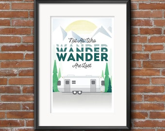 Outdoor Series -- Not All Who WANDER Giclee