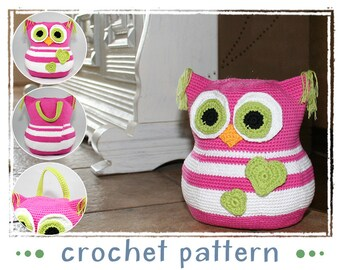 Doorstop - Owl - Crochet Pattern - Amigurumi