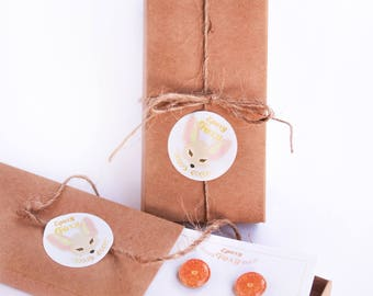 Gift Box Upgrade // Gift wrapping option - Gift box , Twine , EpoxyFoxy sticker , Jewelry card , Optional gift note
