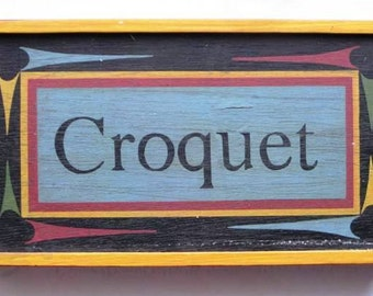 1900s Tabletop Croquet Set