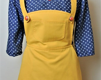 Vintage inspired yellow pinafore skirt