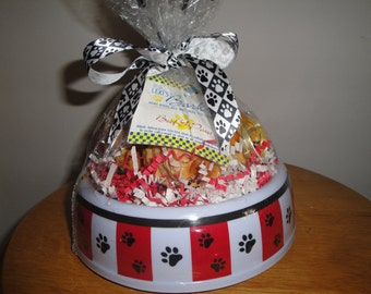 Bowl of Home Baked All Natural Gourmutt Treats
