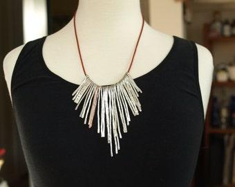 Hammered Aluminum 'I Am Worth It' Necklace