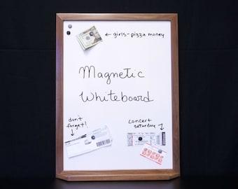 """24""""x18"""" Framed Magnetic Dry Erase Board  w/ Tray - Framed Blank White Board - Magnet Board/Magnetic Photo Board - Office/Entryway Organizer"""