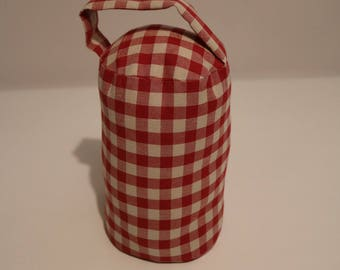 red and white check doorstop collection