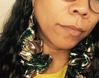 Ruffles African ankara earrings
