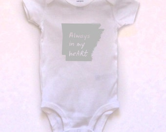 cute baby Onesie®, arkansas baby clothing, arkansas baby gift, arkansas love, arkansas shower gift, baby neutral, cute baby gift,